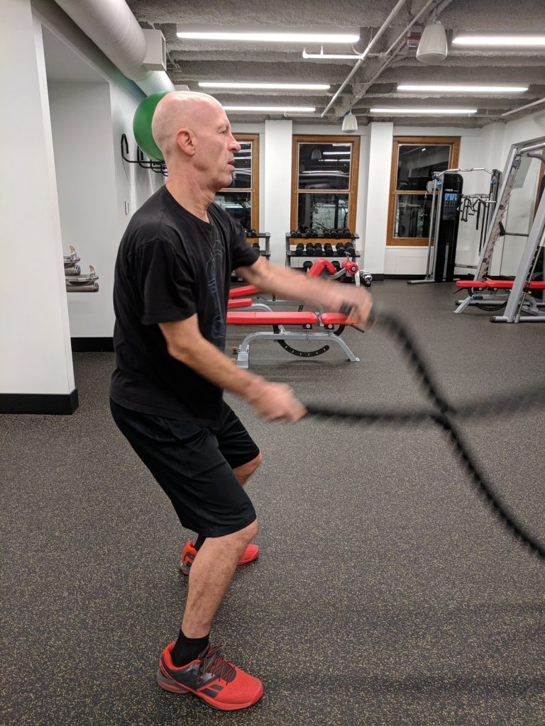 Rope training cardio workout